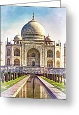 Taj Mahal - Paint Greeting Card
