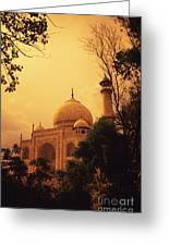 Taj Mahal Sunset Greeting Card