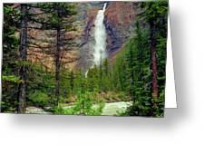 Takakkaw Falls Greeting Card by Crystal Garner