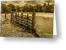 Take A Fence Greeting Card