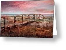 Take A Long Walk Into Dawn Greeting Card