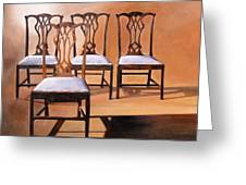 Take A Seat Greeting Card by Denise H Cooperman