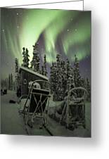Take A Seat For The Aurora Greeting Card