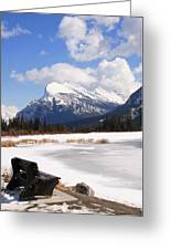 Take A Seat At Vermillion Lake Greeting Card