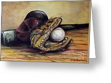 Take Me Out To The Ball Game Greeting Card by Deborah Smith