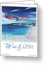 Take Me To Sxm- Poster Greeting Card