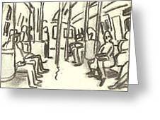 Take The A Train, Nyc Greeting Card