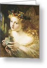 Take The Fair Face Of Woman Greeting Card