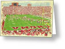 Take The Field Greeting Card
