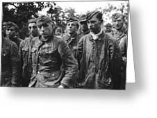 taken prisoner in Normandy Greeting Card