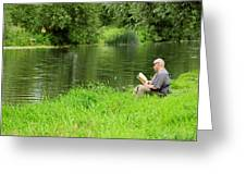 Taking A Break From Fishing Greeting Card