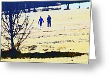 Taking A Walk Greeting Card