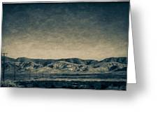 Taking The 5 Through Bakersfield, California Greeting Card