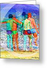 Taking The Plunge Together Greeting Card