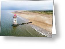 Talacre Aerial 2 Greeting Card