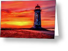 Talacre Lighthouse - Wales Greeting Card