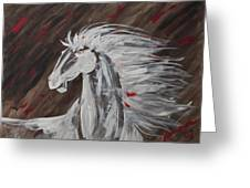 Tale Of The Wind Horse Greeting Card