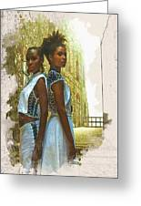 Tale Of Two Sister Greeting Card