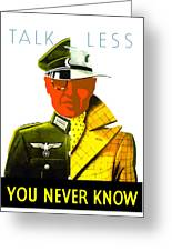Talk Less You Never Know Greeting Card