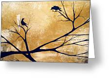 Talking A Lot Of Crow  Greeting Card