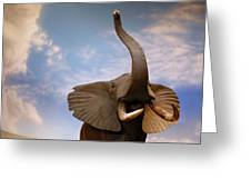 Talking Elephant Greeting Card