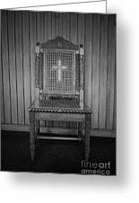 Talking To The Chair Greeting Card