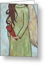 Tall Angel With Heart Greeting Card