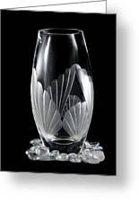 Tall Crystal Vase Greeting Card