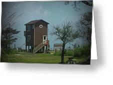 Tall Little Stilt House, Greeting Card