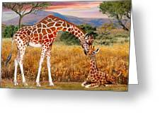Tall Love From Above Greeting Card