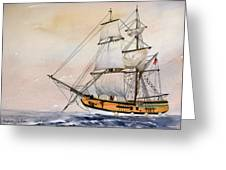 Tall Masted Ship Greeting Card