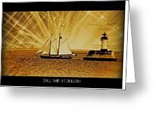 Tall Ship At Duluth Greeting Card