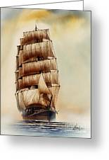 Tall Ship Carradale Greeting Card