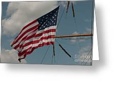 Tall Ship Flag I Greeting Card