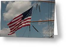 Tall Ship Flag IIi Greeting Card