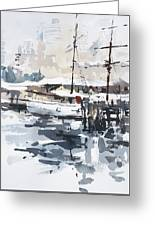Tall Ship In Sydney Harbour Greeting Card