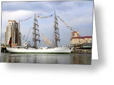 Tall Ship In Tampa Bay Greeting Card