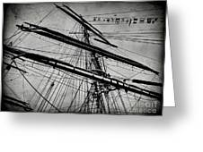Tall Ship Mast V3 Greeting Card