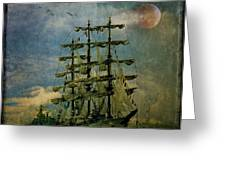 Tall Ship New York Harbor 1976 Greeting Card
