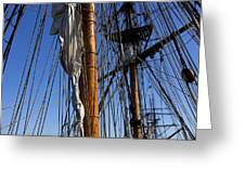 Tall Ship Rigging Lady Washington Greeting Card by Garry Gay