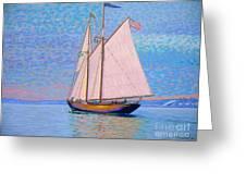 Tall Ship Virginia Entering Halifax Harbour Greeting Card