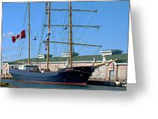 Tall Ship Waiting Greeting Card