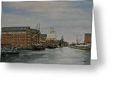 Tall Ships At Gloucester Docks Greeting Card