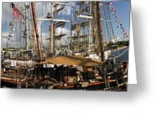 Tall Ships Heritage Landing Greeting Card