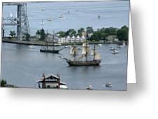Tall Ships -hms Bounty Greeting Card