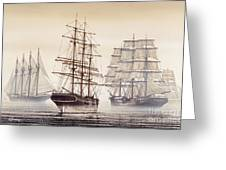 Tall Ships Greeting Card by James Williamson