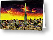 Tallest Building In The World Greeting Card
