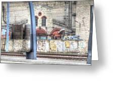 Tallin Graffiti Station Greeting Card