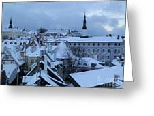 Tallin Old Town Skyline Greeting Card