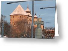 Tallin Towers At Sunrise Greeting Card